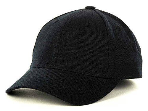 Top Of The World By Lids JV HOME RUN Boy's One-Fit Stretch Fitted Blank Baseball Hat Cap (Child, (Blank Baseball Hats)