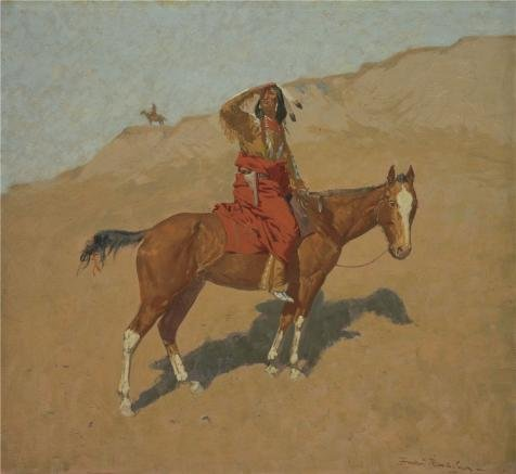 Perfect Effect Canvas ,the Amazing Art Decorative Prints On Canvas Of Oil Painting 'Frederic Remington,Hostiles Watching The Column,1896-1897', 10x11 Inch / 25x28 Cm Is Best For Laundry Room Artwork And Home Decor And Gifts (10 Laundry Pedestal compare prices)