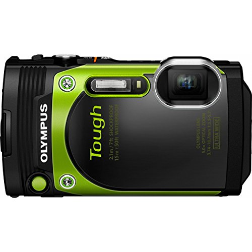 Olympus TG-870 Tough Waterproof 16MP Green Digital Camera (Certified Refurbished)