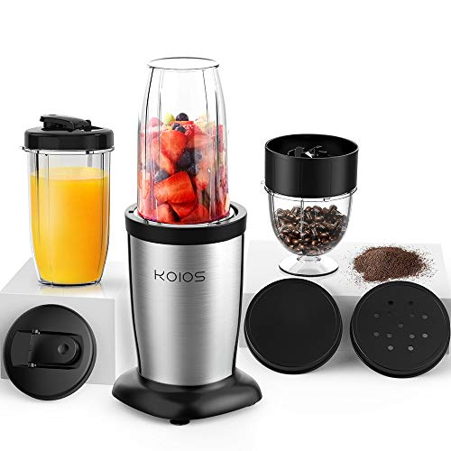 KOIOS 850W Personal Blender for Shakes and Smoothies, 11 Pieces Small Portable Smoothie Blender Mixer, Multifunction…