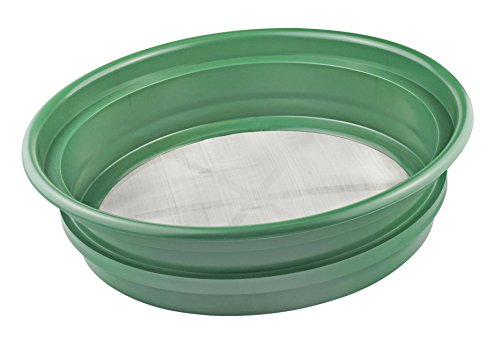 SE GP2-170 Patented Stackable 11 in. Sifting Pan, Mesh Size 1/70 in. by SE