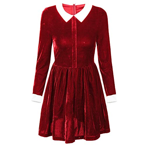 Felove Women's Christmas Gift Peter Pan Collar Long