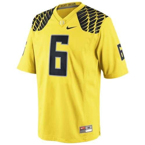 Nike Men's Oregon Ducks #6 Yellow Football Game Jersey Large
