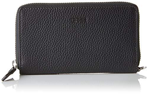BREE Collection Liv New 134, Black, Zipped Combi. Pu. M, Women's Wallet, 2x8x15.5 cm (B x H T)
