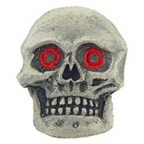 - EagleEmblems P60381 Pin-Skull,Red Eyes (1'')