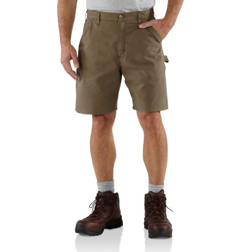 Utility Short - Carhartt Men's Canvas Utility Work Short B144,Light Brown,36