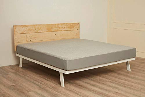 """Wakefit Water Proof Terry Cotton Mattress Protector 72""""x36"""" - Single, Grey 3"""