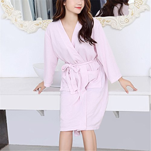 Dragonfly Cotton Pajama - VADOLY Summer Thin Women Super Absorbent Bath Robe Bathrobe Pajamas Body Spa Wearable Bath Gown