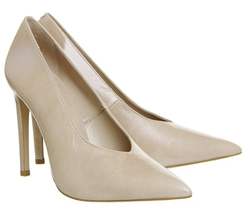 Office Hixter V Cut Closed Point Heels Nude Leather XXuVOd