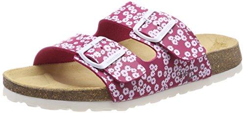 Superfit Mädchen Fussbettpantoffel Pantoffeln Pink (Pink Kombi)