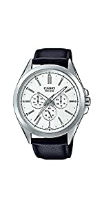 Casio MTP-SW300L-7AV Men's Precisionist Stainless Steel Sweep Second Hand Multifunction Watch