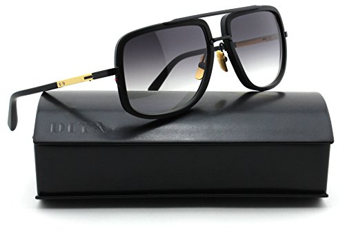 Dita Mach One Unisex Sunglasses 18K Gold w/Matte Black - Sunglasses Mcgregor