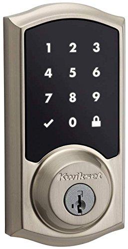 Kwikset Smart Key Lock (Kwikset 99150-002 SmartCode 915 Touchscreen Electronic UL Deadbolt with Smart Key, Satin Nickel)