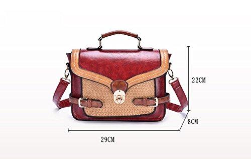 Simple Skew Spanning Shoulder New Lady Handbag Handbag Bag Bag Gwqgz Retro Single vwzTvYq
