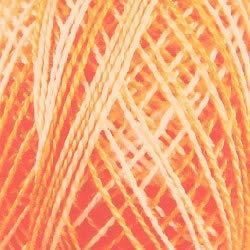 Valdani Perle Cotton Size ~12~ Embroidery Thread, 109 Yard Ball - m22 Peaches (Variegated) NA