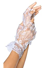 Fever Women's Fingerless Lace Gloves In Display Pack