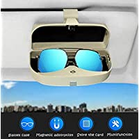 Dualshine Glasses Holders for Car Sun Visor - Sunglasses Eyeglasses Organizer Mount with Ticket Card Clip - Apply to All…
