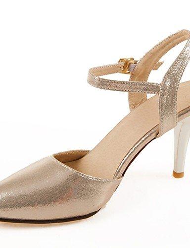 GGX/ Damen-High Heels-Büro / Lässig-Lackleder-Stöckelabsatz-Absätze / Spitzschuh-Blau / Rot / Silber / Gold blue-us6 / eu36 / uk4 / cn36