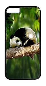 Panda Animal PC Case Cover for iphone 6 Plus 5.5inch - Black