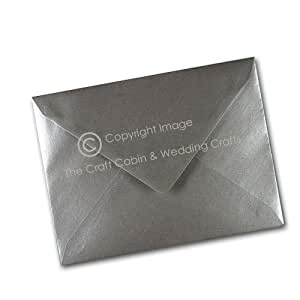 x10 C5/A5 Silver Metalic Pearl Quality Envelopes by The Craft Cabin