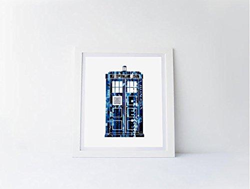 Doctor Who Tardis Magazine Strip Art Print