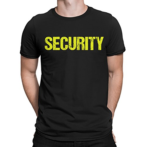 NYC FACTORY Awesome Security T-Shirt Black Mens Neon Tee Staff Event (XL)
