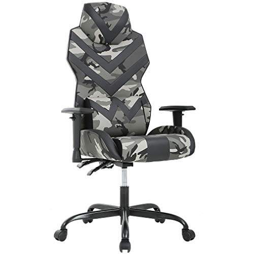 Racing Style PU Gaming Chair Ergonomic Swivel Rolling Chair Computer Office Chair Ergonomic Lumbar Support for Back Pain(Camo)