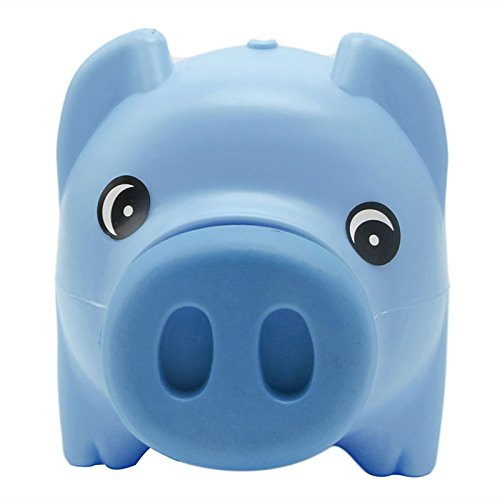 Pink-day Plastic Piggy Bank Coin Money Cash Collectible Saving Box Pig Toy Kids Gift Blue