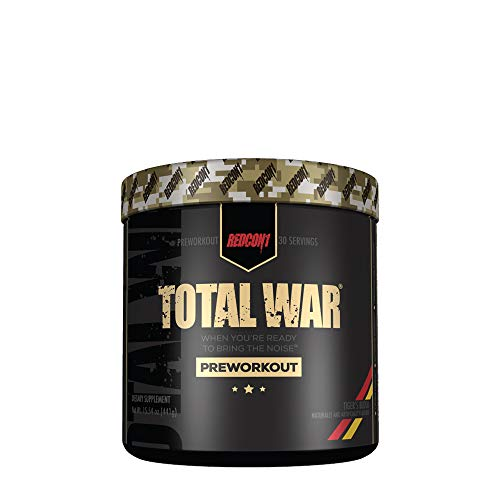 Redcon1 Total War – Pre Workout, 30 Servings, Boost Energy, Increase Endurance and Focus, Beta-Alanine, 350mg Caffeine…