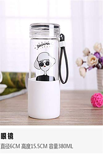 Korea Fashion Portable Head Glass Insulation Against hot Cup Fashion Cartoon accompanying Men Man Child Cup Water (Sunglasses Girl