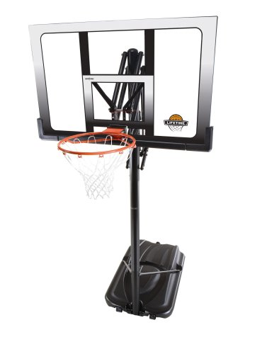 Lifetime 71286 XL Portable Basketball System, 52 Inch Shatterproof Backboard
