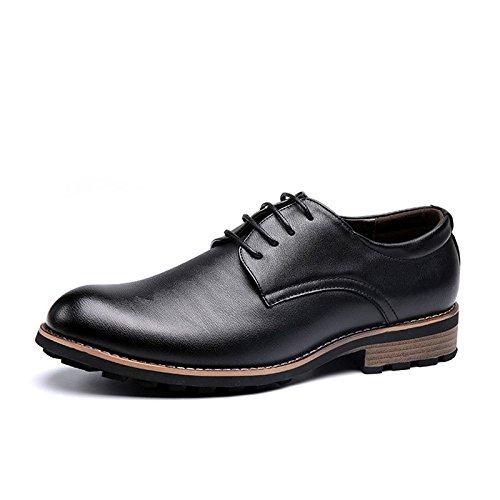 Cuir pour LEDLFIE Black en Hommes Chaussures xqw8wYTv