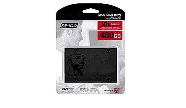 SSO) Disco Duro 2.5 SSD Kingston 480GB SSDNOW SATA3 SA400: Amazon ...