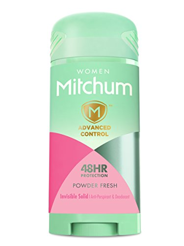 Active Ingredient Anti Perspirant (Mitchum for Women Advanced Control Anti-Perspirant & Deodorant Invisible Solid, Powder Fresh, 2.7 oz)
