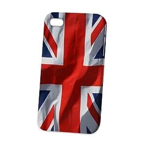 Case Fun Apple iPhone 4 / 4S Case - Vogue Version - 3D Full Wrap - Union Jack Flag