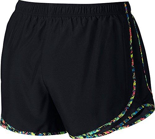 Nike Dames Tempo Korte Zwarte Multi Strip