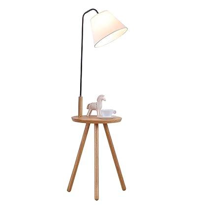 GJIF - Lámpara de pie Lámpara de pie Bastidor de Madera ...