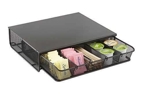 (Safco Products 3274BL Onyx Mesh Hospitality Organizer, 1 Drawer, Black)
