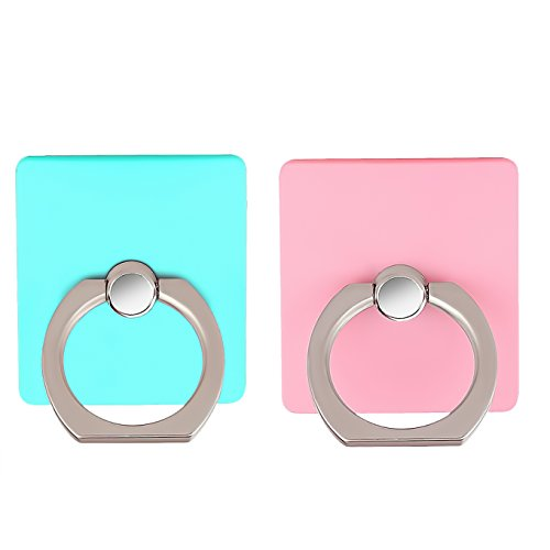 [2 Pack]Cell Phone Ring Holder Stand,CaseHQ Finger Grip Loop Mount 360 degree Rotation Universal Smartphone Kickstand for iphone X 8 7 7Plus Samsung Galaxy S9 S9 plus S7 S8 LG Google (teal+pink) (Reusable Protector Universal Screen)