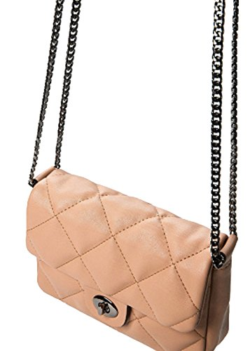 5 19 E431 Shoulder ; cm LxHxW Crossbody Bag Nude PU Bag x Leather x Model 15 Mango Ladies S000291 q0fBPw