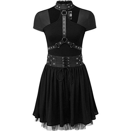 Midnight Schwarz Harness Muse Minikleid Killstar wgqxEBY7
