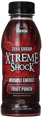 Rtd Fruit (Ansi Xtreme Shock RTD Energy Drink, Fruit Punch, 12 fl.oz, 12 Count by)