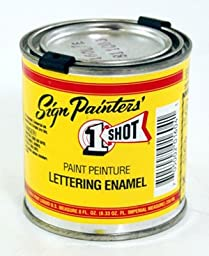 1 Shot Pinstriping Paint White One Shot 1/2 Pt