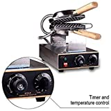 Electric Stainless steel egg waffle maker Non-stick pan waffle grill Egg puff machine
