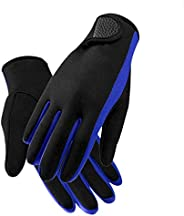 Neoprene Diving Gloves for Women Men, Stretchy 1.5mm Scuba Dive Sail Wetsuits Gloves Five Finger Paddle Snorke