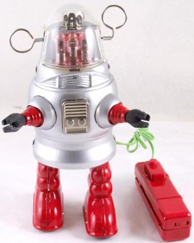 20 cm high Remote Control battery operated tin plate robot - piston action by Iauctionshop (Image #1)
