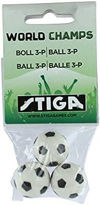 Stiga Pack de 3 Pelotas de Futbolin: Amazon.es: Deportes y aire libre