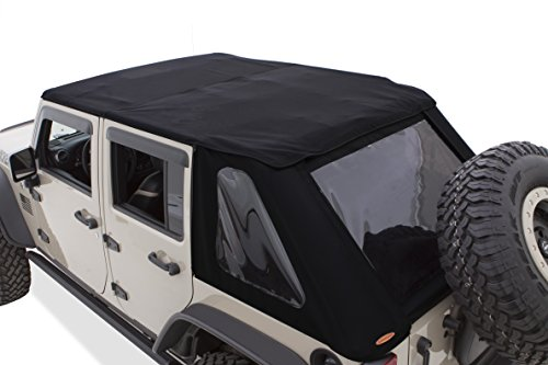 - Bushwacker 14925 Trail Armor Twill Fast Back Soft Top for 2007-2018 Jeep Wrangler with 4 Doors