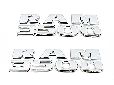 2 NEW CHROME 05-07 DODGE RAM 3500 DOOR EMBLEMS BADGES PAIR SET