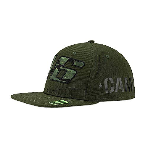 (Cap Valentino Rossi VR46 Official Monster Camp Adjustable Camouflage Flat Peak)